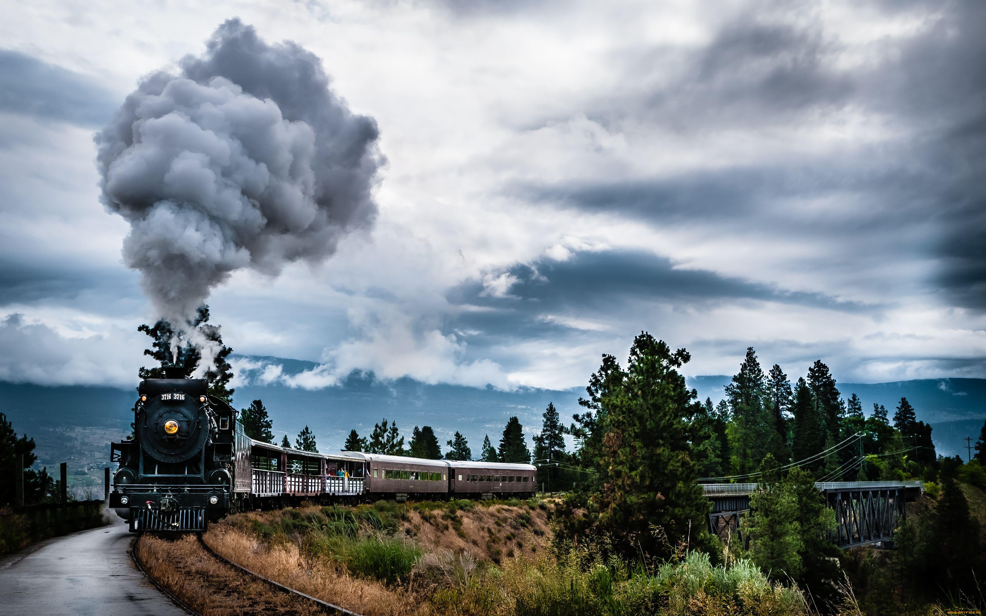 Обои поезд, небо, Пейзаж. Разное foto 9